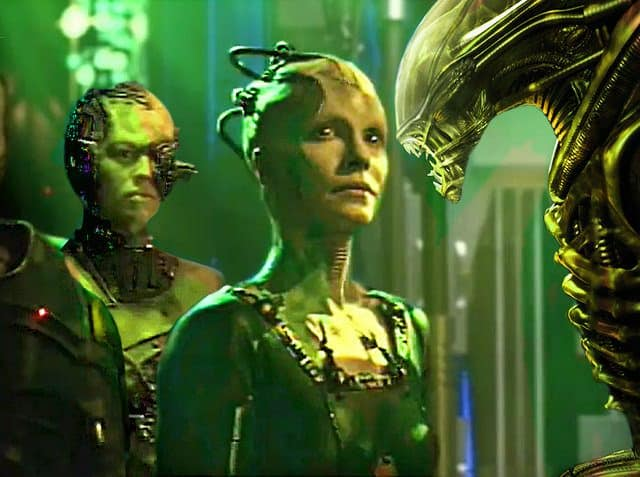 Borg Queen in Star Treck New generation